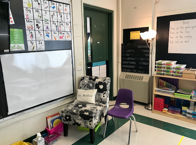 our classroom meeting area