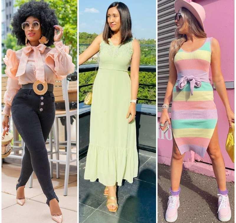 paste pastel color combination dress styles