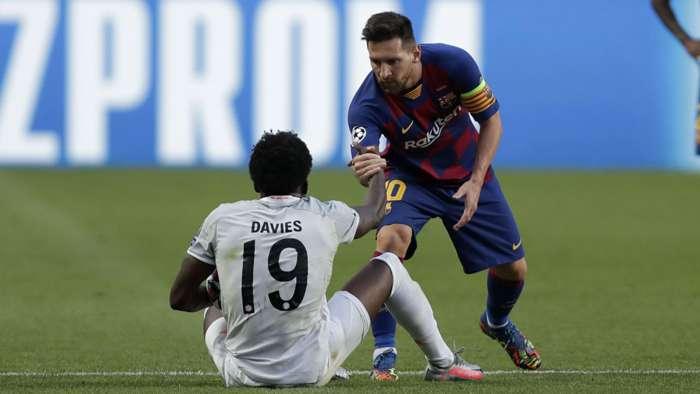 Alphonso Davies: Messi từ chối đổi áo đấu với tôi