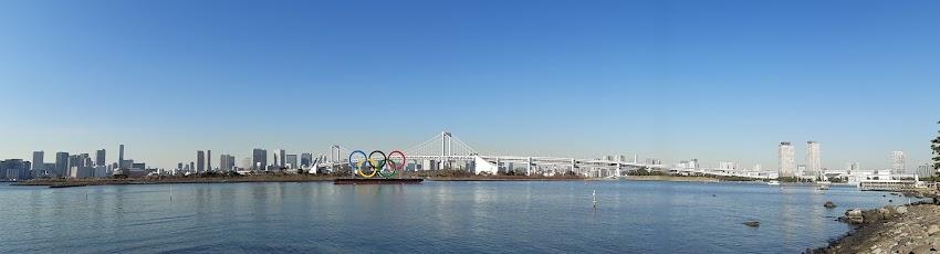 レインボーブリッジ&東京オリンピック五輪モニュメント