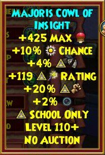 Wizard101 Best Level 110+ Gear - Baba Yaga Drops