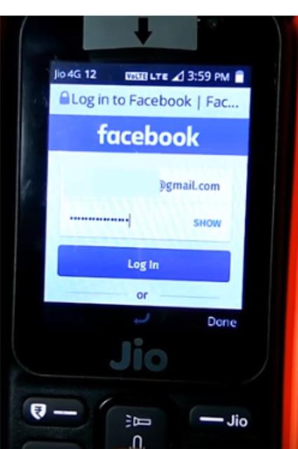 jio phone me facebook logout kaise kare