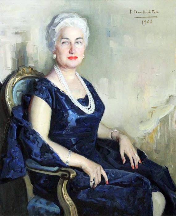 Retrato de dama 1968, Félix Revello de Toro, Revello de Toro, Pintores Malagueños, Retratos de Revello de Toro, Pintor español, Pintores de Málaga, Pintor Revello de Toro