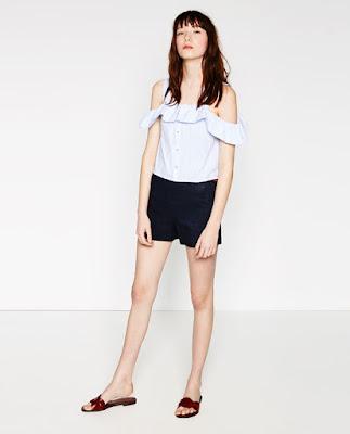 Linen bermuda short, $35.90 from Zara