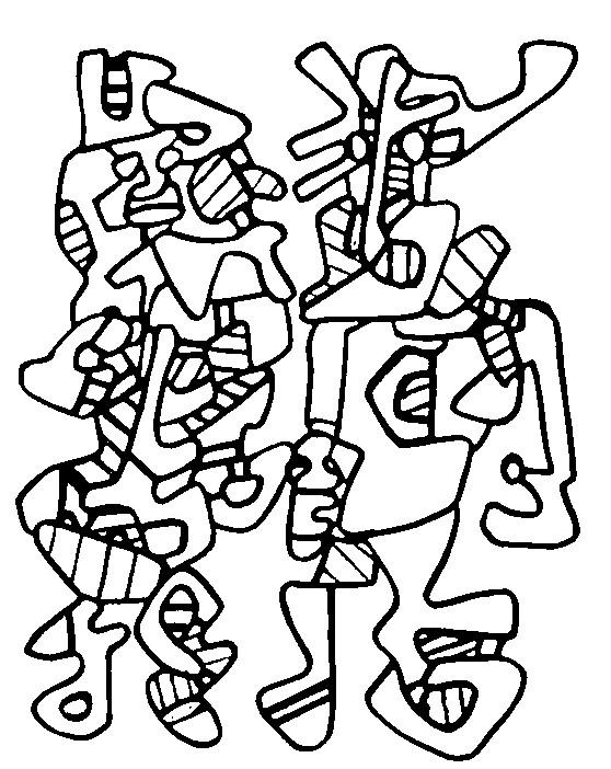 Dibujo automático Jean Dubuffet   Barkearte