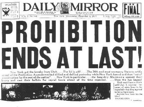The Effects of Prohibition on the US Wine Industry