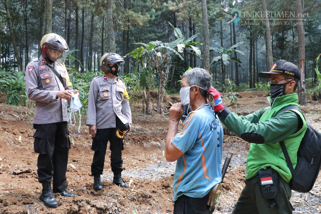 Polres Kebumen dan Polhut Sisir Pemukiman Warga di Sekitar Hutan Milik Perhutani