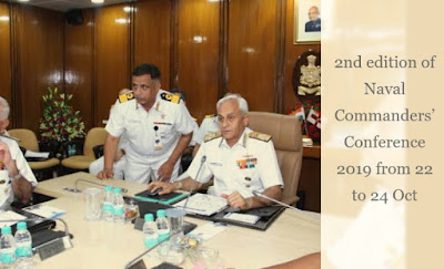 2nd edition of Naval Commanders' Conference 2019 from 22 to 24 Oct
