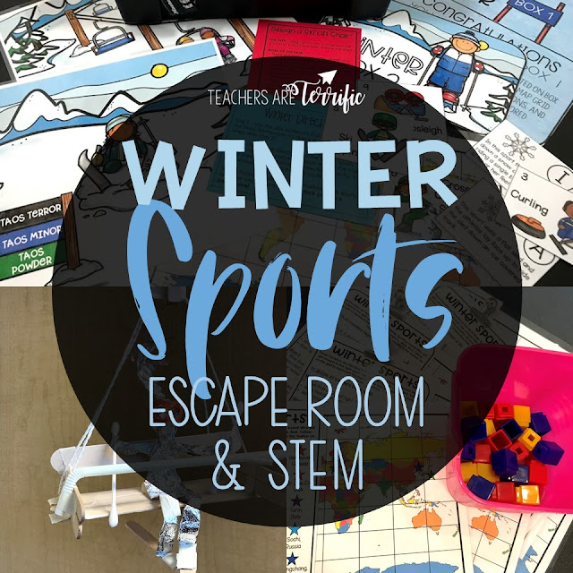 This Escape Room Quest is perfect for celebrating all things winter- especially sports.