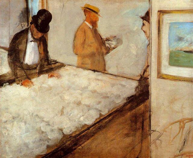 Эдгар Дега - Торговцы хлопком в Новом Орлеане (1873)