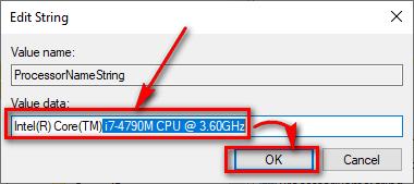 Thay đổi thông số CPU trên Windows