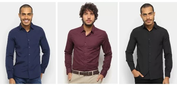 Camisa masculina slim comprar online