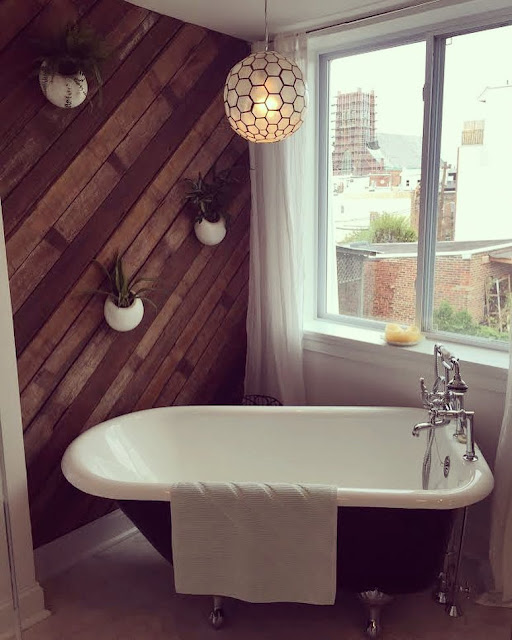 urban rustic bathroom