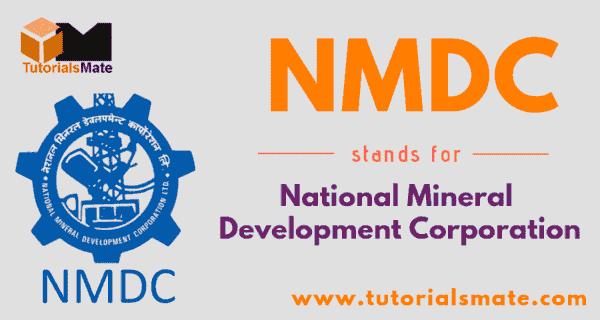 NMDC Full Form