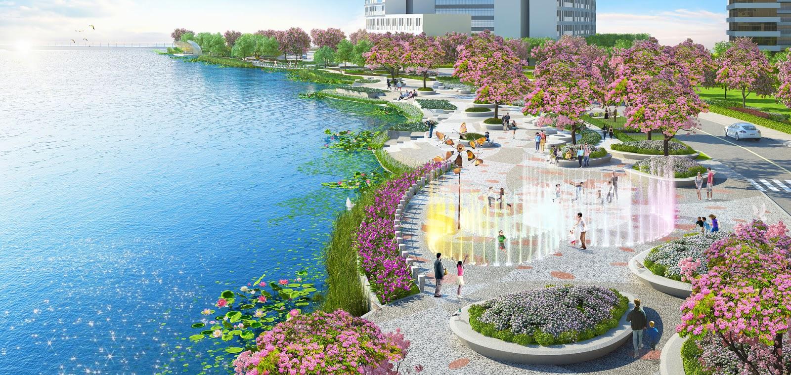 Công viên Sakura hoa anh đào tuyệt đẹp tại dự án