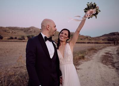 foto sposi felice
