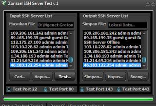 Cara Test SSH Yang Aktif 2015