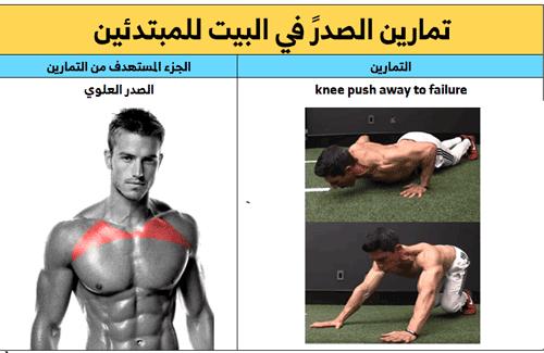 تمرين الضغط للصدر العلوي ,تمرين البوش أب للصدر العلوي
