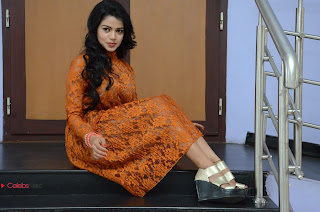 Actress Bhavya Sri Stills in Lace Gown at Kali Movie Audio Launch  0112.JPG