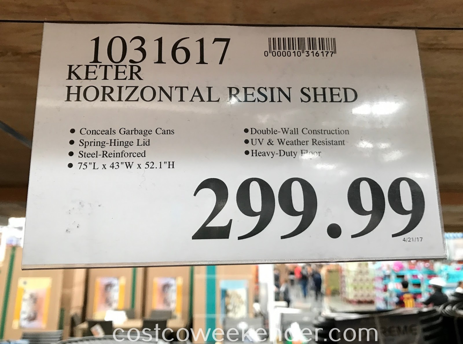 Deal for the Keter Horizontal Storage Shed at Costco