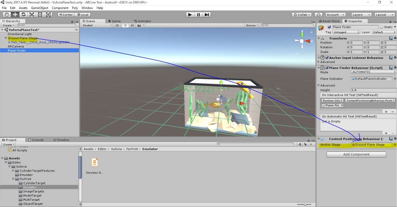 Learning's: Getting Started with Vuforia Ground Plane and Unity