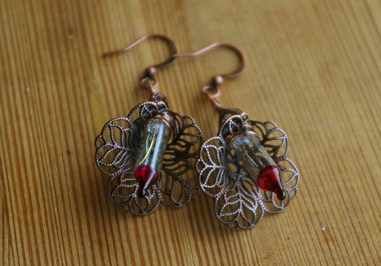 Beyond The Junkpile Copper Recycled Circuit Board Earrings Dangle Their Small Size And Sturdy Construction In Most Cases Makes Them Durable While Still Creating A Delicate Steampunk Inspired Esthetic