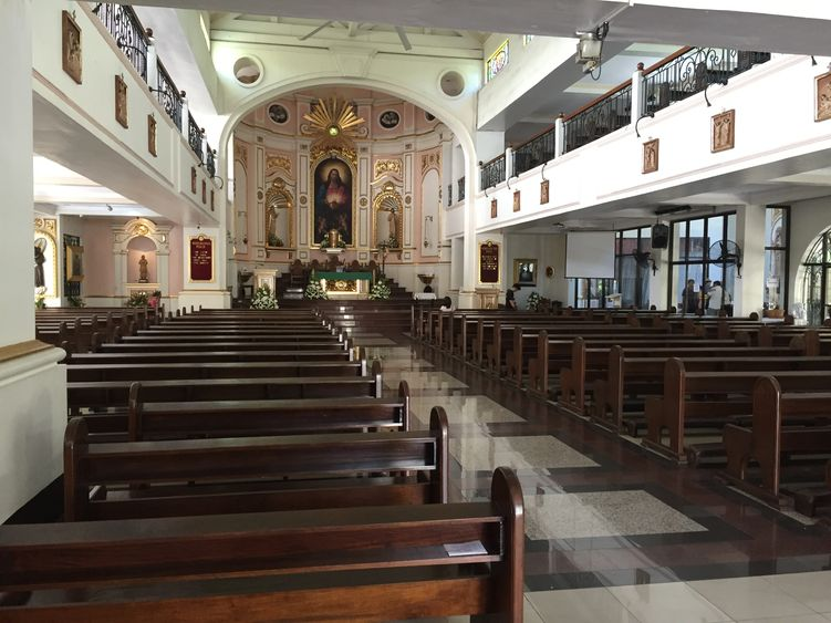 The interiors of the National Shrine of the Sacred Heart of Jesus