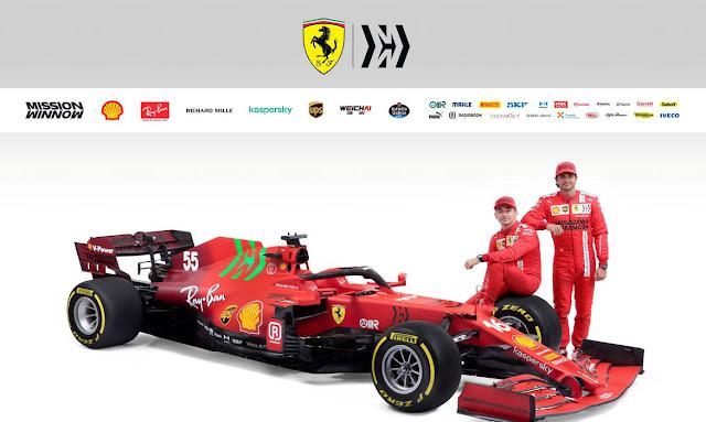 Ferrari 2021 (foto: Reprodução Intranet)