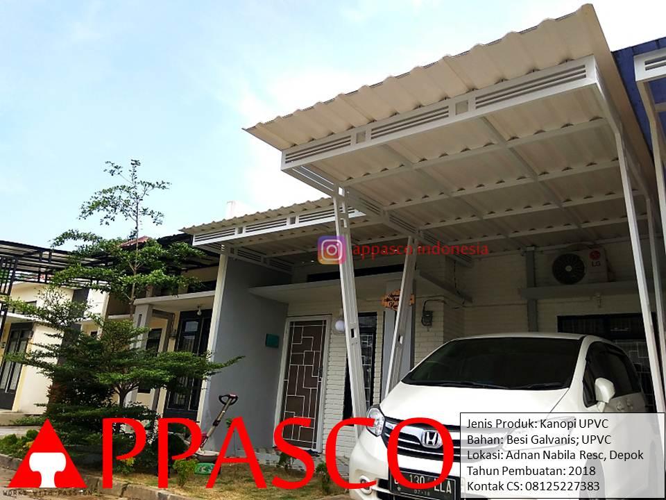Kanopi Modern Atap UPVC Cantik Adnan Nabila Residence