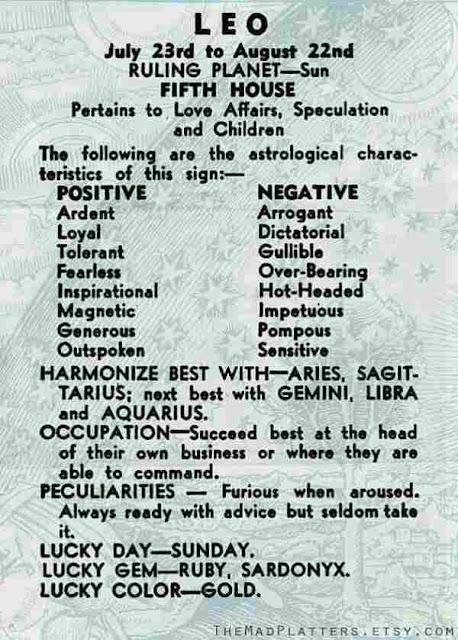 leo horoscope types