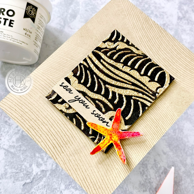 Cardbomb, Maria Willis, Hero Arts, Hero Paste, mixed media, texture paste, cards, cardmaking, stamps, stamping, ink, paper, papercraft, create, art, diy, handmade,greeting cards,video tutorial,