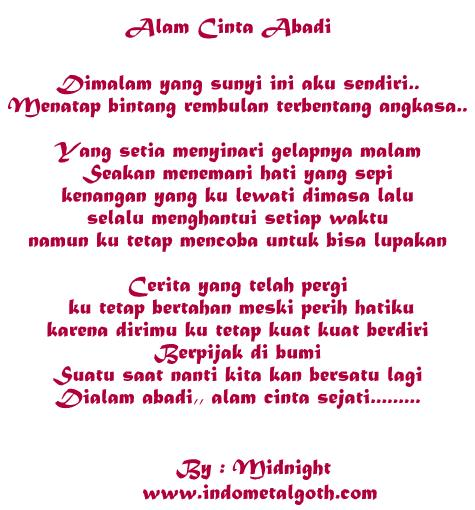 Gothic Romance Lyrics ( Poem / Poetry )By Midnight - Alam Cinta Abadi