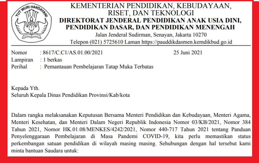 gambar surat edaran kemdikbud