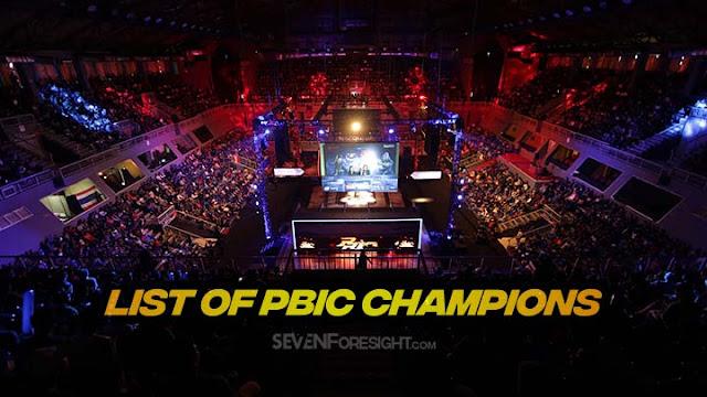 list pbic champions