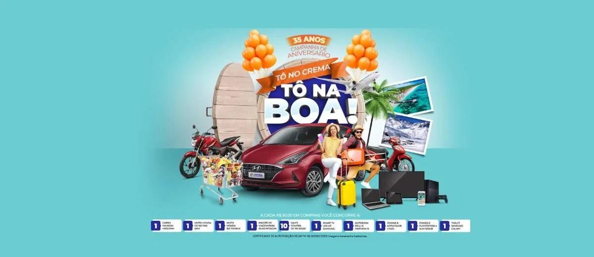 Promoção Crema Supermercados 2020 Tô no Crema Tô na Boa Aniversário