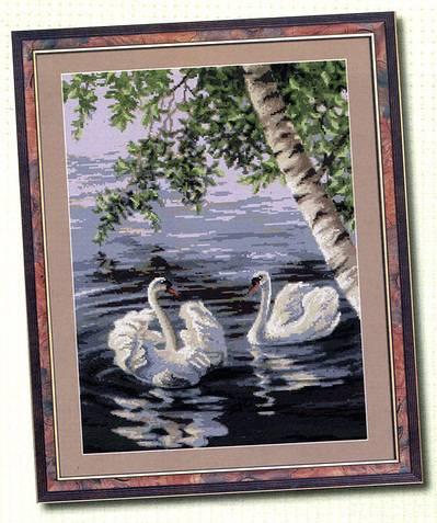 Схема вышивки Лебеди - подборка чудесных схем