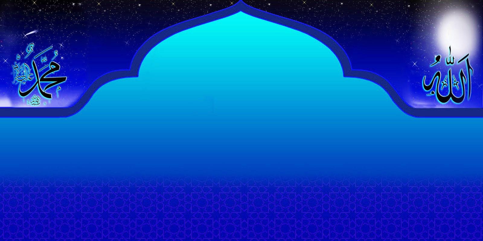 Desain Background Gambar Islami, Pas Buat Banner Ucapan