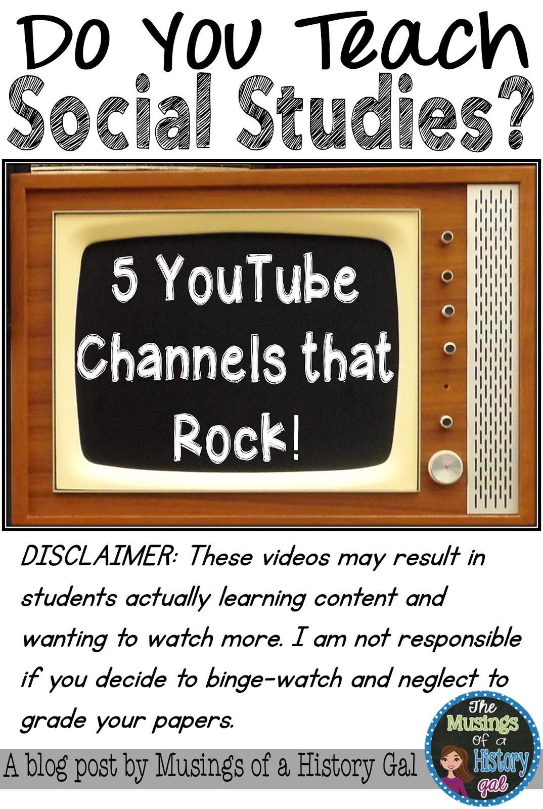 YouTube Channels Social Studies Teachers Should Follow