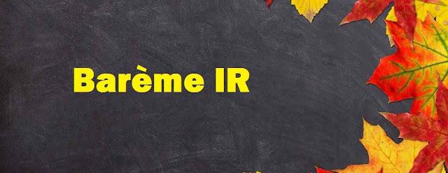 Barème IR 2019 Maroc