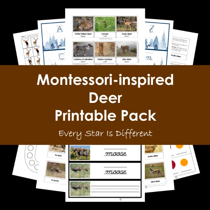 Montessori-inspired Deer Printable Pack