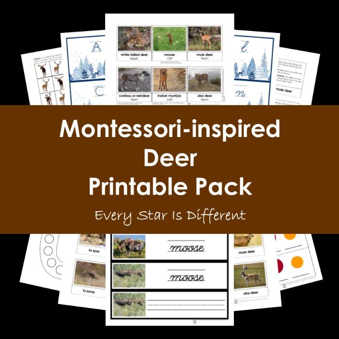 Montessori-inspired Deer Printable Pack