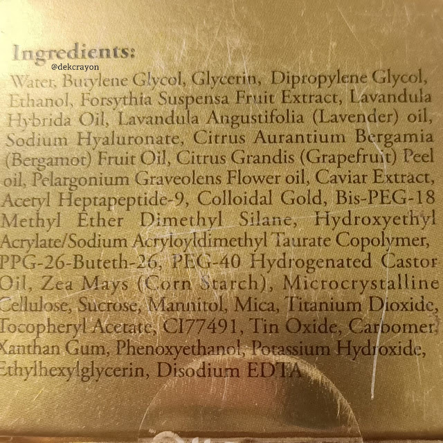 kandungan bahan clinelle caviar gold