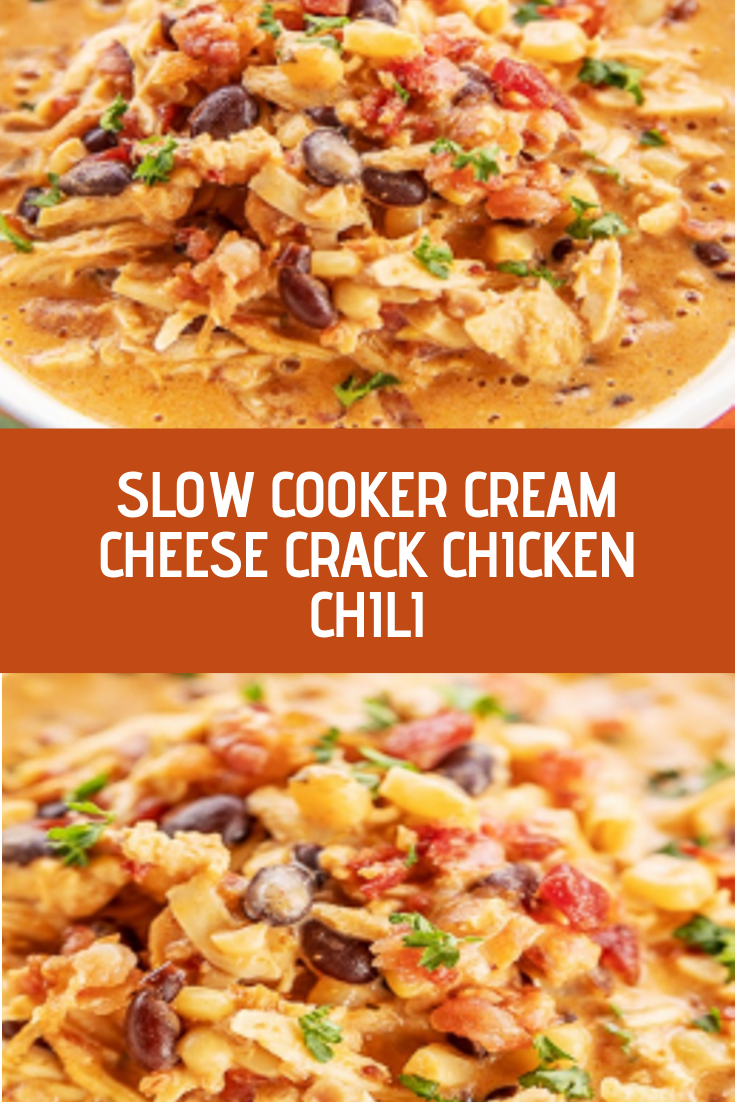 SLOW COOKER CREAM CHEESE CRACK CHICKEN CHILI