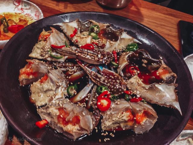makanan halal di Korea, Daegu. Korea, ketam korea, makanan sedap korea,