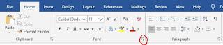 klik menu icon pengaturan font
