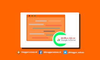 Cara Memasang dan Mengaktifkan Ads.txt di Blogger Untuk Adsense