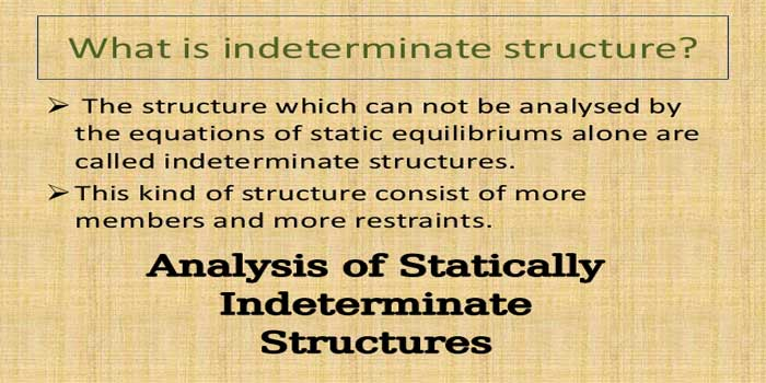 Analysis of Statically Indeterminate Structures