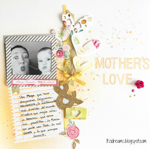 Scrapbooking lay out, Scrap, Scrapbook. Color Life, Mother's day