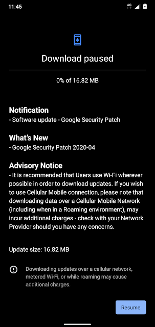 Nokia 7.1 receiving April 2020 Android Security patch