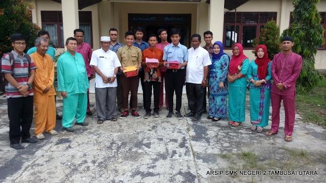 Penjemputan siswa PKL SMK N 2 Tambusai Utara di Kantor Camat Tambusai Utara 2